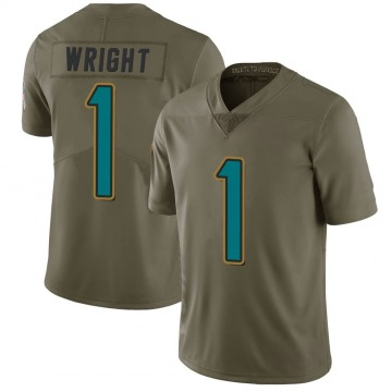 Youth Nike Jacksonville Jaguars Brandon Wright Green 2017 Salute to Service Jersey - Limited