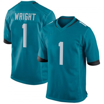 Youth Nike Jacksonville Jaguars Brandon Wright Teal Jersey - Game