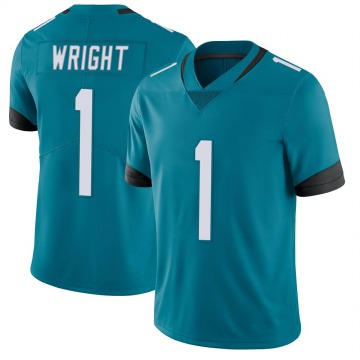 Youth Nike Jacksonville Jaguars Brandon Wright Teal Vapor Untouchable Jersey - Limited