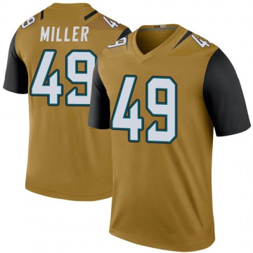 Youth Nike Jacksonville Jaguars Bruce Miller Gold Color Rush Bold Jersey - Legend