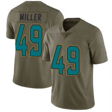 Youth Nike Jacksonville Jaguars Bruce Miller Green 2017 Salute to Service Jersey - Limited