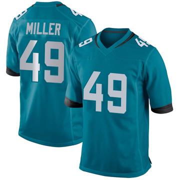 Youth Nike Jacksonville Jaguars Bruce Miller Teal Jersey - Game
