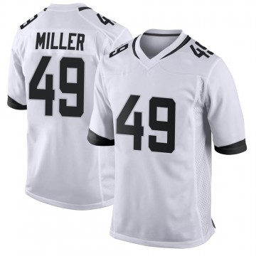 Youth Nike Jacksonville Jaguars Bruce Miller White Jersey - Game