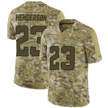 Youth Nike Jacksonville Jaguars CJ Henderson Camo 2018 Salute to Service Jersey - Limited
