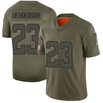 Youth Nike Jacksonville Jaguars CJ Henderson Camo 2019 Salute to Service Jersey - Limited