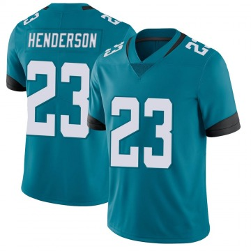 Youth Nike Jacksonville Jaguars CJ Henderson Teal Vapor Untouchable Jersey - Limited