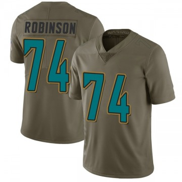 Youth Nike Jacksonville Jaguars Cam Robinson Green 2017 Salute to Service Jersey - Limited