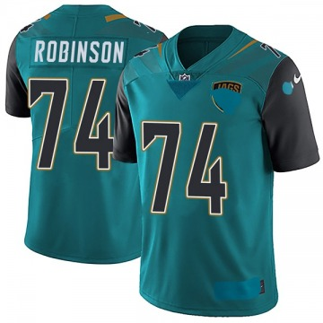 Youth Nike Jacksonville Jaguars Cam Robinson Teal Vapor Untouchable Team Color Jersey - Limited