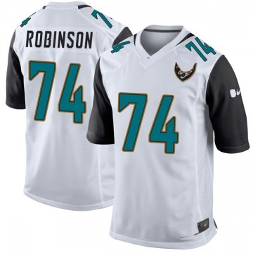 Youth Nike Jacksonville Jaguars Cam Robinson White Jersey - Game