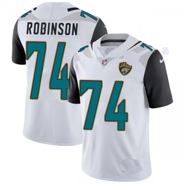 Youth Nike Jacksonville Jaguars Cam Robinson White Vapor Untouchable Jersey - Limited