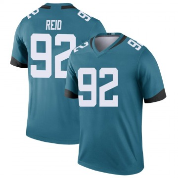 Youth Nike Jacksonville Jaguars Caraun Reid Teal Color Rush Jersey - Legend