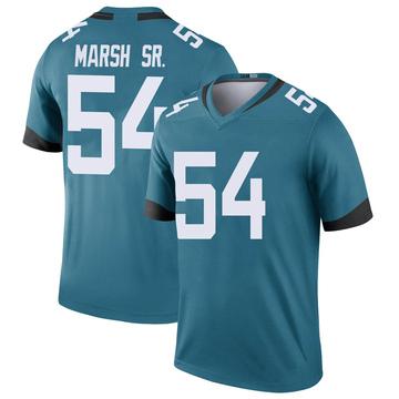 Youth Nike Jacksonville Jaguars Cassius Marsh Teal Color Rush Jersey - Legend