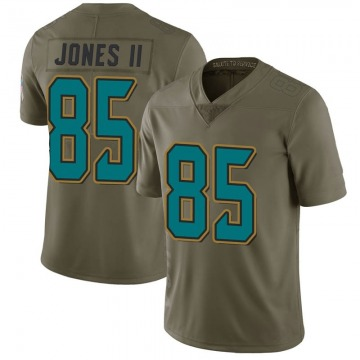 Youth Nike Jacksonville Jaguars Charles Jones II Green 2017 Salute to Service Jersey - Limited