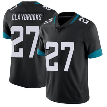 Youth Nike Jacksonville Jaguars Chris Claybrooks Black 100th Vapor Untouchable Jersey - Limited