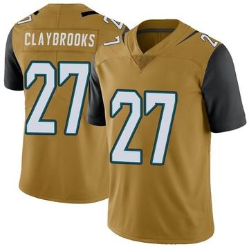 Youth Nike Jacksonville Jaguars Chris Claybrooks Gold Color Rush Vapor Untouchable Jersey - Limited