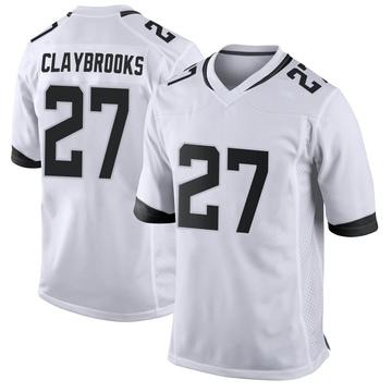 Youth Nike Jacksonville Jaguars Chris Claybrooks White Jersey - Game