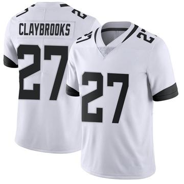 Youth Nike Jacksonville Jaguars Chris Claybrooks White Vapor Untouchable Jersey - Limited