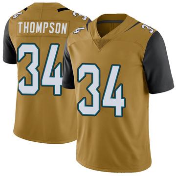 Youth Nike Jacksonville Jaguars Chris Thompson Gold Color Rush Vapor Untouchable Jersey - Limited