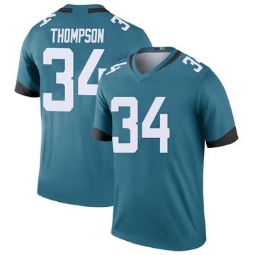 Youth Nike Jacksonville Jaguars Chris Thompson Teal Color Rush Jersey - Legend