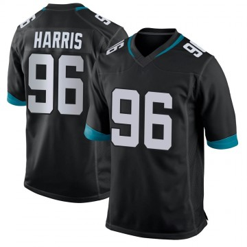 Youth Nike Jacksonville Jaguars Chuck Harris Black Jersey - Game