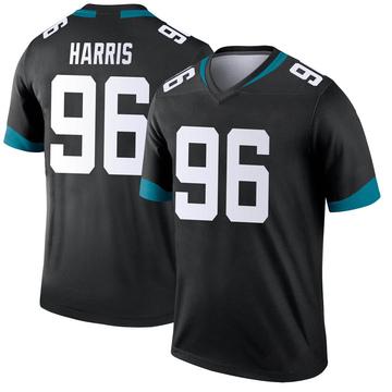 Youth Nike Jacksonville Jaguars Chuck Harris Black Jersey - Legend