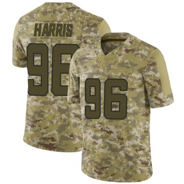 Youth Nike Jacksonville Jaguars Chuck Harris Camo 2018 Salute to Service Jersey - Limited