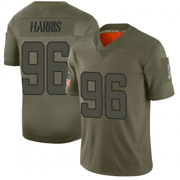 Youth Nike Jacksonville Jaguars Chuck Harris Camo 2019 Salute to Service Jersey - Limited