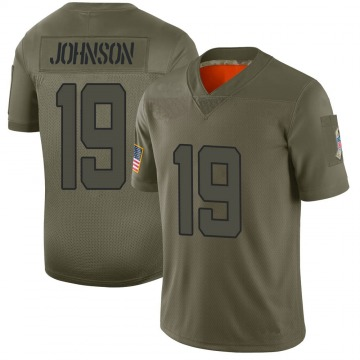 Youth Nike Jacksonville Jaguars Collin Johnson Camo 2019 Salute to Service Jersey - Limited