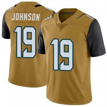 Youth Nike Jacksonville Jaguars Collin Johnson Gold Color Rush Vapor Untouchable Jersey - Limited