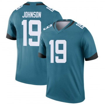 Youth Nike Jacksonville Jaguars Collin Johnson Teal Color Rush Jersey - Legend