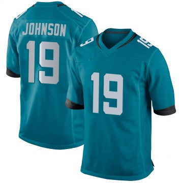 Youth Nike Jacksonville Jaguars Collin Johnson Teal Jersey - Game