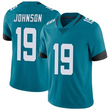 Youth Nike Jacksonville Jaguars Collin Johnson Teal Vapor Untouchable Jersey - Limited