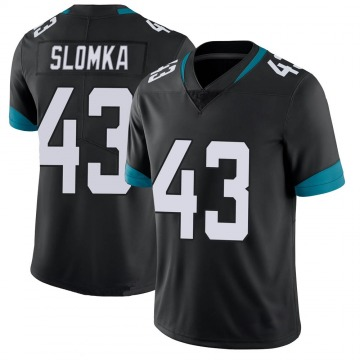 Youth Nike Jacksonville Jaguars Connor Slomka Black 100th Vapor Untouchable Jersey - Limited