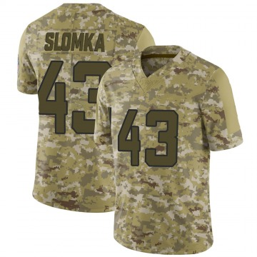 Youth Nike Jacksonville Jaguars Connor Slomka Camo 2018 Salute to Service Jersey - Limited