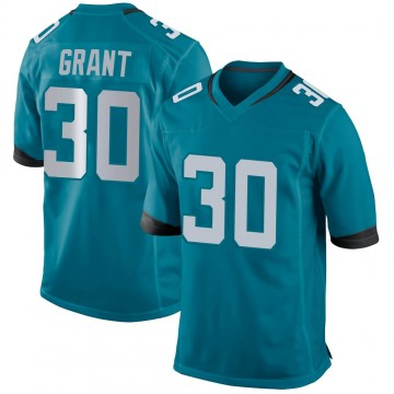 Youth Nike Jacksonville Jaguars Corey Grant Teal Team Color Jersey - Game