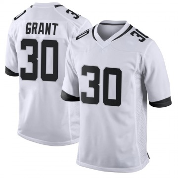 Youth Nike Jacksonville Jaguars Corey Grant White Jersey - Game