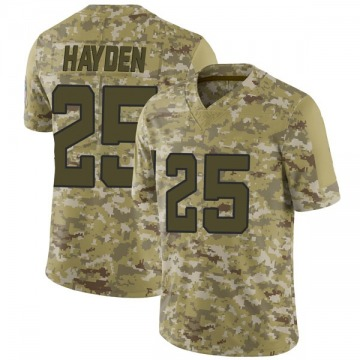 Youth Nike Jacksonville Jaguars D.J. Hayden Camo 2018 Salute to Service Jersey - Limited