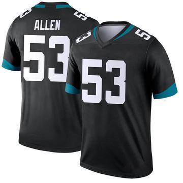 Youth Nike Jacksonville Jaguars Dakota Allen Black Jersey - Legend