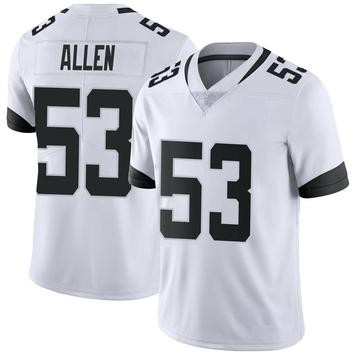 Youth Nike Jacksonville Jaguars Dakota Allen White Vapor Untouchable Jersey - Limited