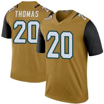 Youth Nike Jacksonville Jaguars Daniel Thomas Gold Color Rush Bold Jersey - Legend