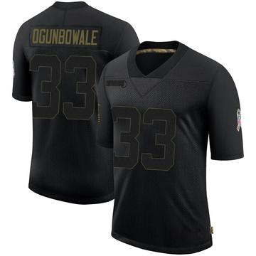 Youth Nike Jacksonville Jaguars Dare Ogunbowale Black 2020 Salute To Service Jersey - Limited