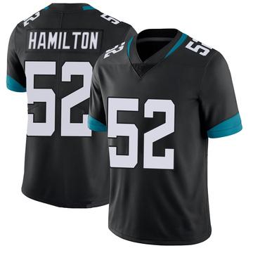 Youth Nike Jacksonville Jaguars Davon Hamilton Black 100th Vapor Untouchable Jersey - Limited
