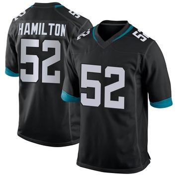 Youth Nike Jacksonville Jaguars Davon Hamilton Black Jersey - Game