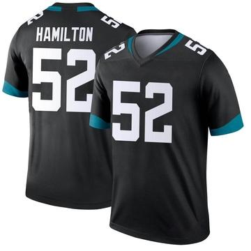 Youth Nike Jacksonville Jaguars Davon Hamilton Black Jersey - Legend