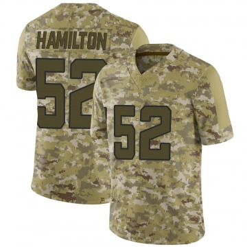 Youth Nike Jacksonville Jaguars Davon Hamilton Camo 2018 Salute to Service Jersey - Limited