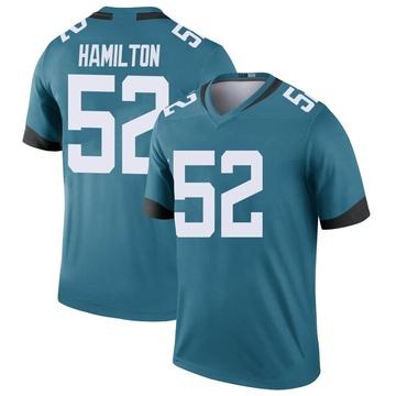 Youth Nike Jacksonville Jaguars Davon Hamilton Teal Color Rush Jersey - Legend