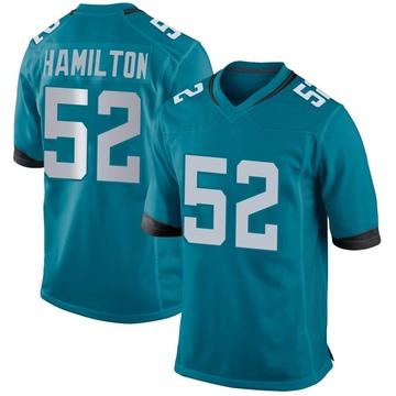 Youth Nike Jacksonville Jaguars Davon Hamilton Teal Jersey - Game