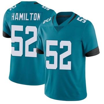 Youth Nike Jacksonville Jaguars Davon Hamilton Teal Vapor Untouchable Jersey - Limited