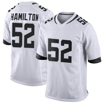 Youth Nike Jacksonville Jaguars Davon Hamilton White Jersey - Game