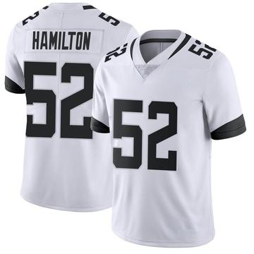 Youth Nike Jacksonville Jaguars Davon Hamilton White Vapor Untouchable Jersey - Limited
